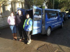 Shop in Tideswell helps Flooding on the Levels Action Group